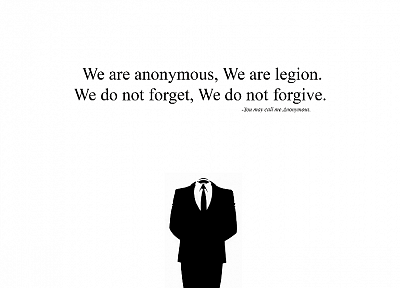 Anonymous, white - random desktop wallpaper
