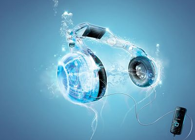 headphones - random desktop wallpaper