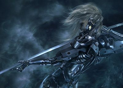 Metal Gear, video games, CGI, weapons, artwork, Raiden, Metal Gear Solid Rising, swords - desktop wallpaper