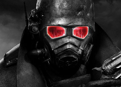 video games, Fallout, selective coloring - random desktop wallpaper