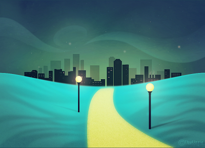 night, city skyline - random desktop wallpaper