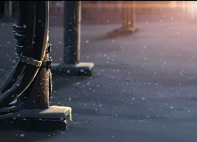 snow, Makoto Shinkai, 5 Centimeters Per Second - related desktop wallpaper