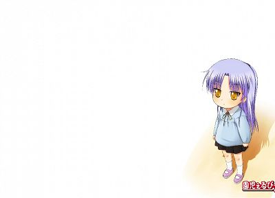 Angel Beats!, Tachibana Kanade, simple background, white background - desktop wallpaper