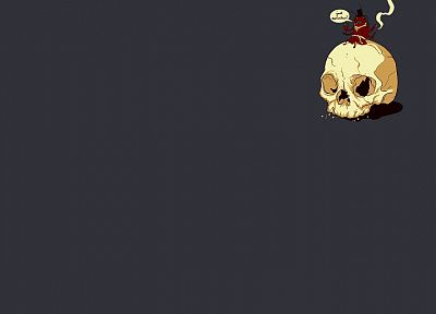 skulls, simple background - random desktop wallpaper