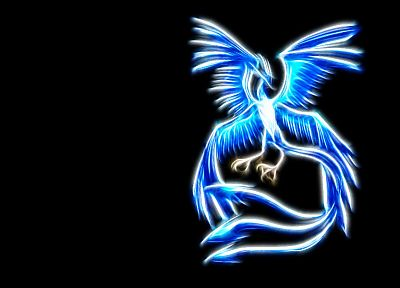 Pokemon, Articuno, simple background, Airpaint - random desktop wallpaper