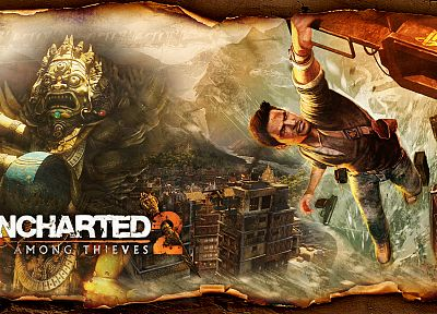video games, Uncharted, Nathan Drake - random desktop wallpaper