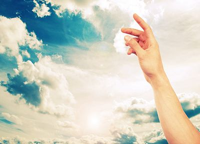 clouds, hands, skyscapes, arms raised - random desktop wallpaper