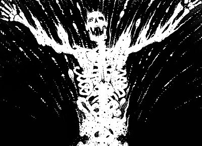 Watchmen, skeletons, Dr. Manhattan - random desktop wallpaper