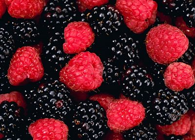 raspberries, berries, blackberries - random desktop wallpaper