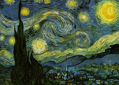 Vincent Van Gogh, Starry Night - random desktop wallpaper