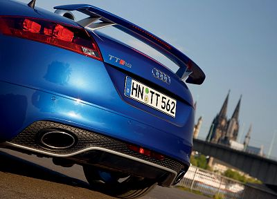 cars, Audi, back view, Audi TT, Audi TT RS, low-angle shot, German cars - desktop wallpaper