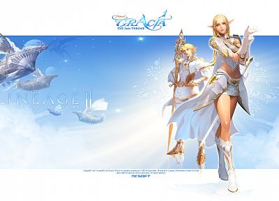 mage, Lineage, elves, Lineage 2 - random desktop wallpaper