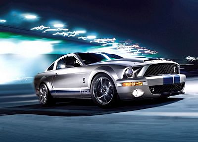 blue, cars, Ford, silver, vehicles, Ford Mustang, Shelby Mustang, Ford Mustang Shelby GT500KR, Ford Shelby, Shelby American - related desktop wallpaper