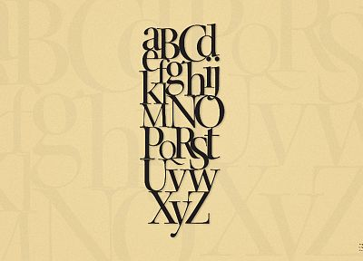 typography, alphabet - random desktop wallpaper