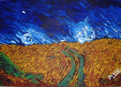 abstract, paintings, fields, artwork, skyscapes - related desktop wallpaper