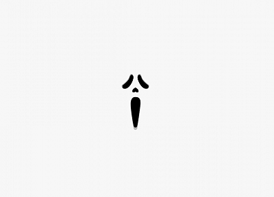 minimalistic, movies, white, screaming, white background, Scream (movie) - related desktop wallpaper