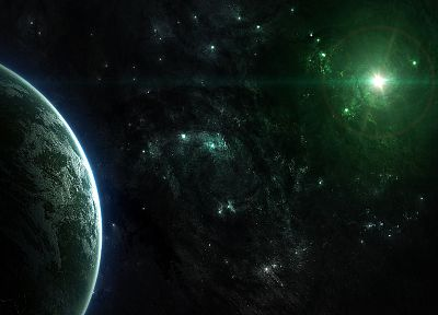 outer space, stars, galaxies, planets, DeviantART - random desktop wallpaper