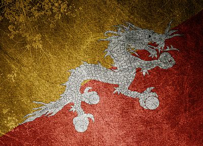 dragons, flags, artwork, chinese dragon, bhutan - desktop wallpaper