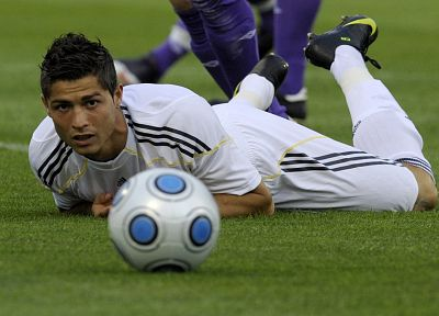 Cristiano Ronaldo, soccer balls, football star - random desktop wallpaper