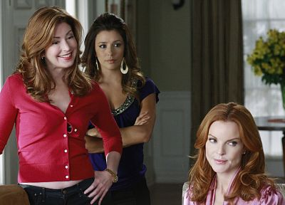 TV, women, Eva Longoria, Desperate Housewives, Marcia Cross, Gabrielle Solis, Bree Van De Camp, Dana Delany - random desktop wallpaper