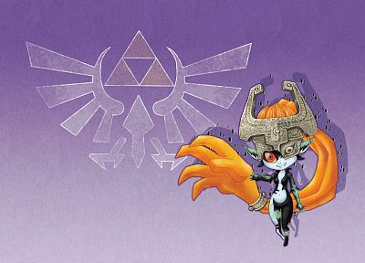 video games, triforce, The Legend of Zelda, Midna - related desktop wallpaper