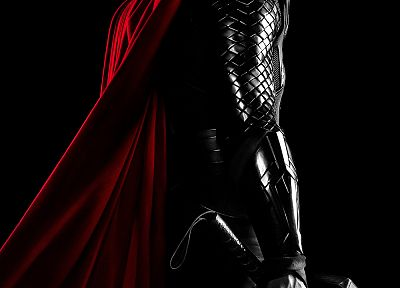 capes, selective coloring, movie posters, Chris Hemsworth, Thor (movie) - desktop wallpaper