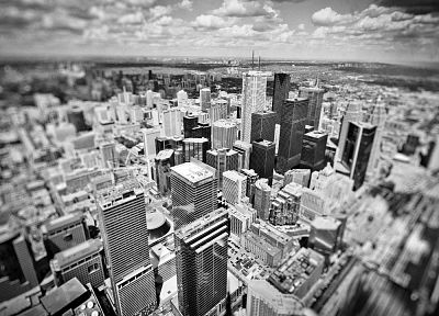 cityscapes, monochrome - desktop wallpaper