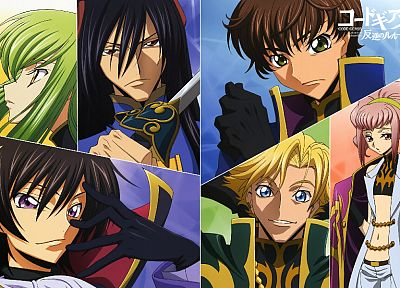 Code Geass, Kururugi Suzaku, Alstreim Anya, Lamperouge Lelouch, C.C., anime, Gino Weinberg, Li Xingke - related desktop wallpaper