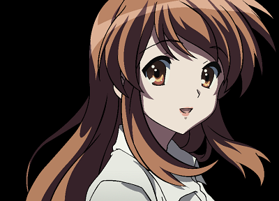 Asahina Mikuru, transparent, The Melancholy of Haruhi Suzumiya, anime, anime girls, anime vectors - related desktop wallpaper