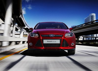 red, cars, Ford Focus - related desktop wallpaper