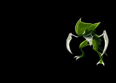 Pokemon, Fractalius, simple background, black background - related desktop wallpaper
