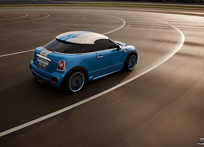 blue, cars, mini cooper - random desktop wallpaper
