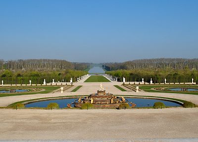 France, Versailles, fountain, Latone Ornamental Lake - random desktop wallpaper