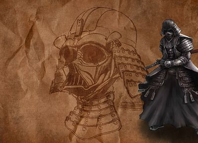 Star Wars, movies, Darth Vader, samurai, digital art - related desktop wallpaper