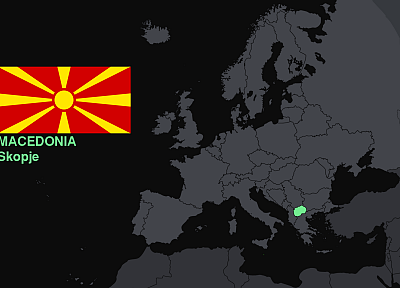 flags, Europe, maps, knowledge, countries, Macedonia, useful - related desktop wallpaper