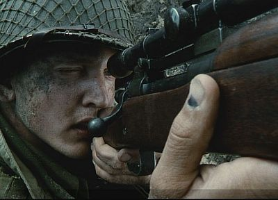 movies, military, snipers, US Army, World War II, Saving Private Ryan, Barry Pepper - related desktop wallpaper