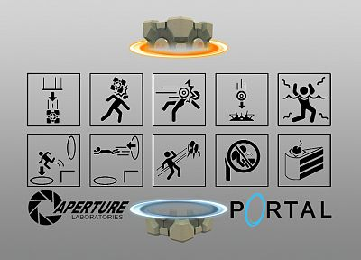 video games, Portal - random desktop wallpaper
