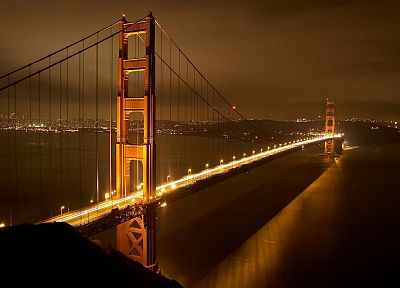 night, bridges, Golden Gate Bridge, San Francisco - random desktop wallpaper