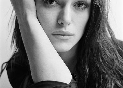 women, actress, Keira Knightley, grayscale - related desktop wallpaper