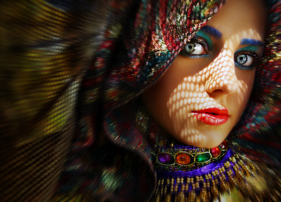 women, multicolor, faces - random desktop wallpaper