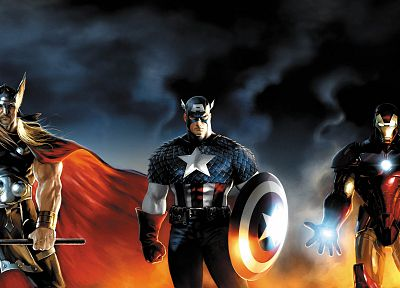 Iron Man, Thor, Captain America, Marvel Comics - random desktop wallpaper