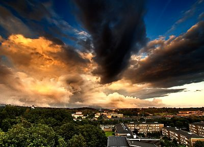 clouds, HDR photography, skyscapes, cities - related desktop wallpaper