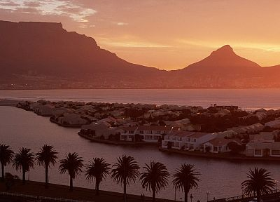 mountains, head, tables, South Africa, Cape Town, Table Mountain - random desktop wallpaper