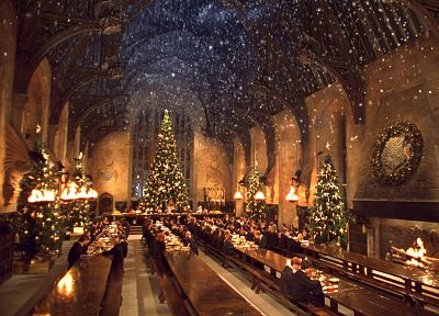 movies, Harry Potter, Harry Potter and the Chamber of Secrets, Hogwarts, X-mas - random desktop wallpaper