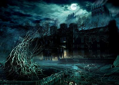 fantasy, castles, Alone in the Dark - related desktop wallpaper