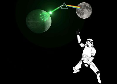 Star Wars, Pink Floyd, stormtroopers, Moon - related desktop wallpaper