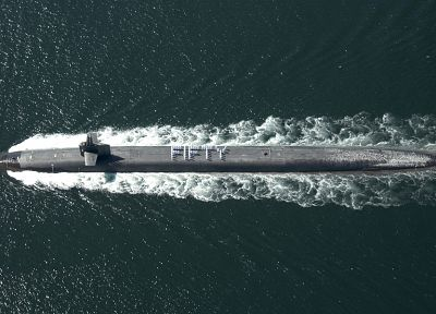 military, nuclear, submarine, aerial photography, ssbn - desktop wallpaper