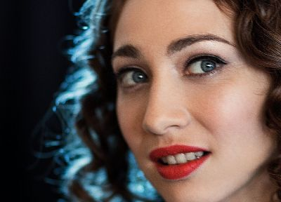 women, blue eyes, Regina Spektor, singers, curly hair, faces - desktop wallpaper