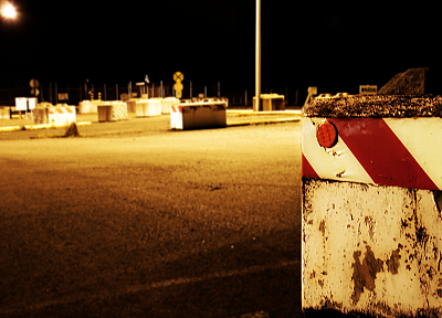 cityscapes, night, parking lot - random desktop wallpaper