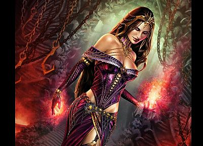 Magic: The Gathering, alternate, veil, Steve Argyle, Liliana Vess - random desktop wallpaper